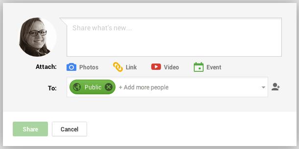 Update Google+